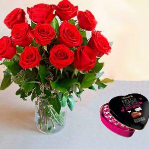 ramo-rosas-rojas-bombones