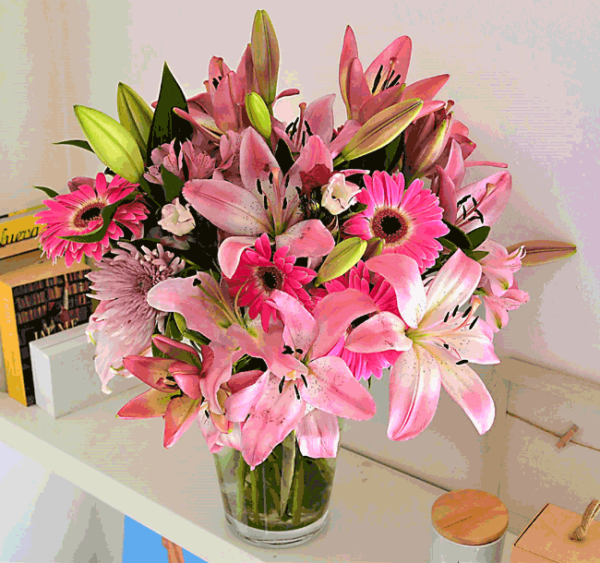 bouquet-fleurs-rose-barcelone