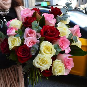 bouquet-rose-domicile-barcelone