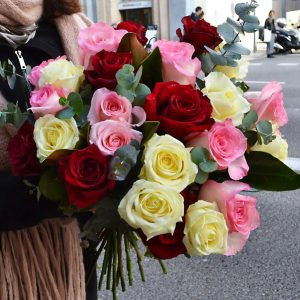 bouquet-roses-variees-barcelone