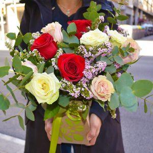 boxe-bouquet-roses