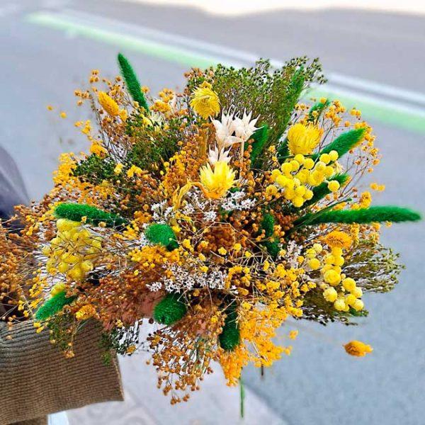 fleurs-bouquet-sec-jaune